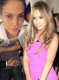 jennifer lopez shows off her flawless complexion with in latest no make-up selfie